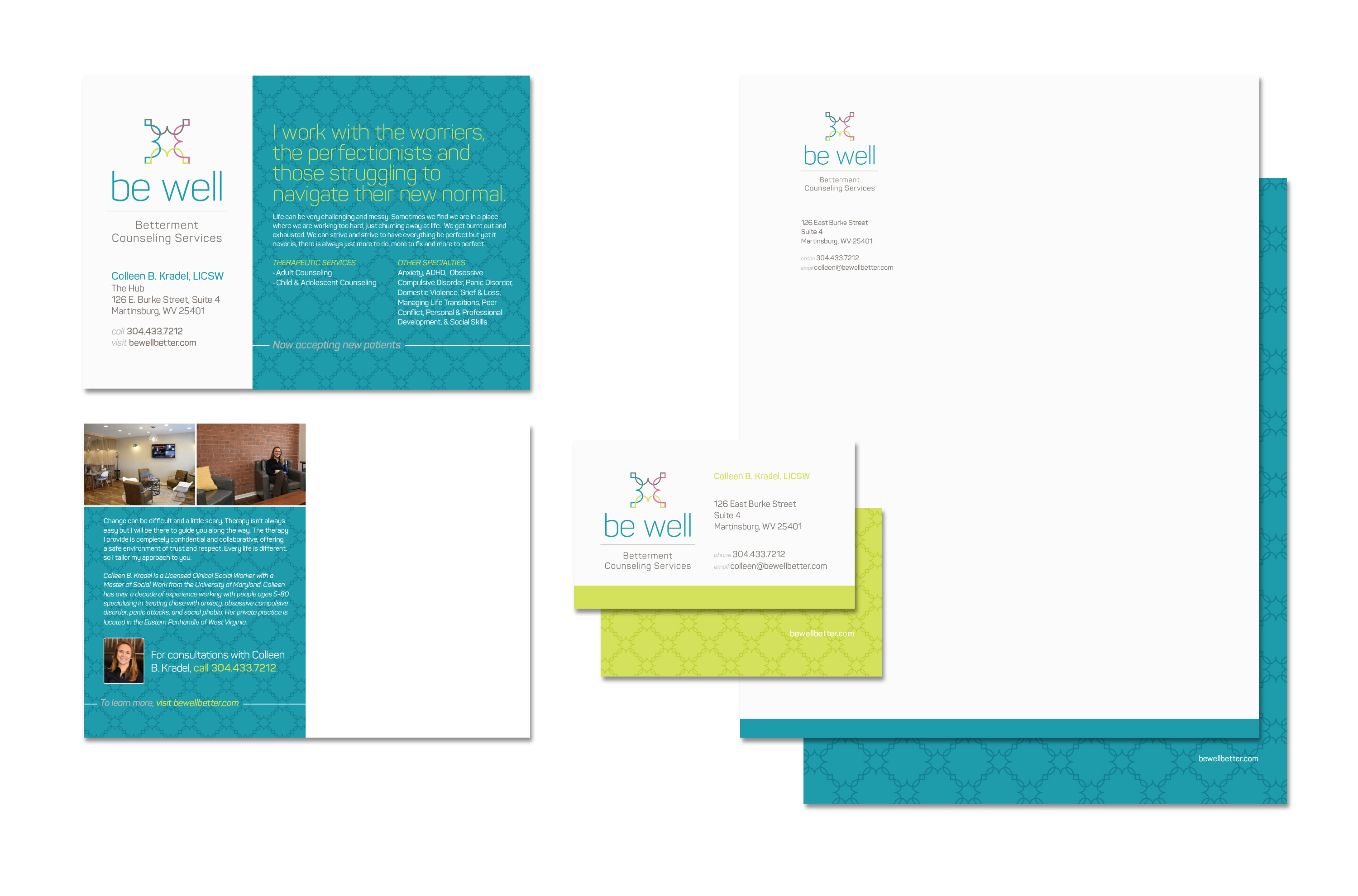 Be Well Counseling Stationery & Collateral